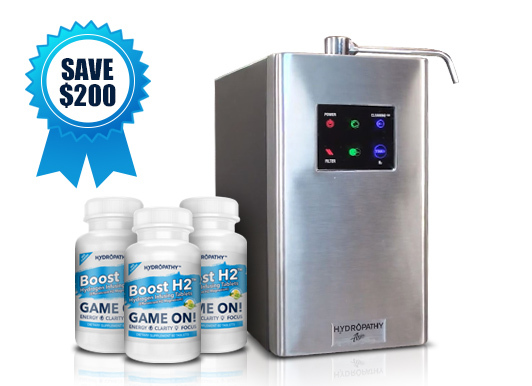 Hydropathy Water Ionizer with 90 day supply of H2 Hydrogen Tablets